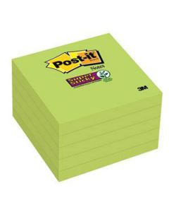 Post-It Notes 76X76Mm S/Sticky Lime Cube Pkt5
