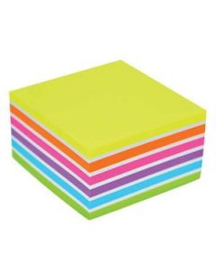 Sticky Notes Stickn Cube 76X76Mm Assorted