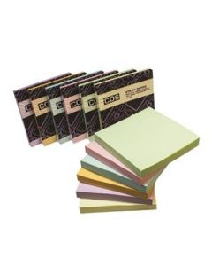 Premium Sticky Notes 76X76 Asst Pastel Pkt-12