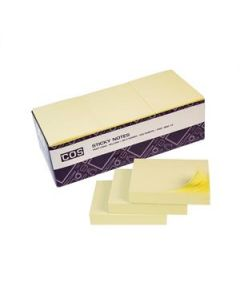New Sticky Notes 38X50 Yellow Box-12