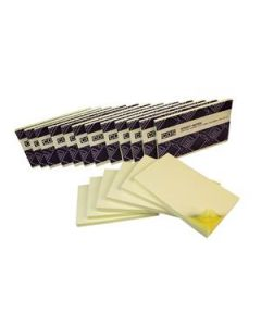 New Sticky Notes 76X127 Yellow Pkt-12