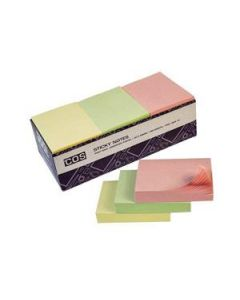 New Sticky Notes 38 X 50 Asst Pastel Bx-12