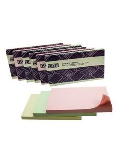 New Sticky Notes 76X127 Pastel Pkt-6
