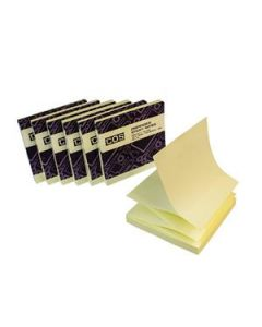 New Dispenser Sticky Notes 76X76 Yellow Pk12