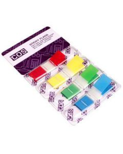 Sticky Flags Mini Assorted Colours Pkt-140