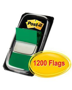 Post-It Flags 680-3-24Cp Green Value Pkt-1200