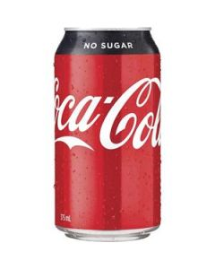 Drink Coca Cola No Sugar Can 375Ml Ctn-24