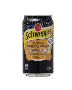 Drink Min Water Schweppes Orange/Mango 375Ml Ctn24