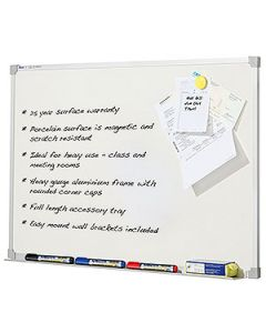 Whiteboard Magnetic Porcelain 1800X1200Mm
