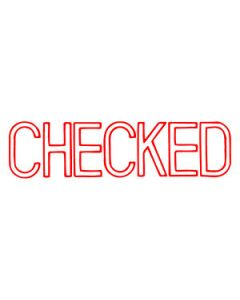 Stamp Pre-Inked 1038 Checked (Red)